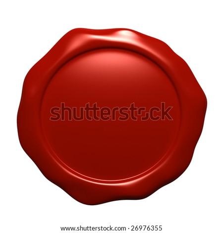 Wax seal - stock photo
