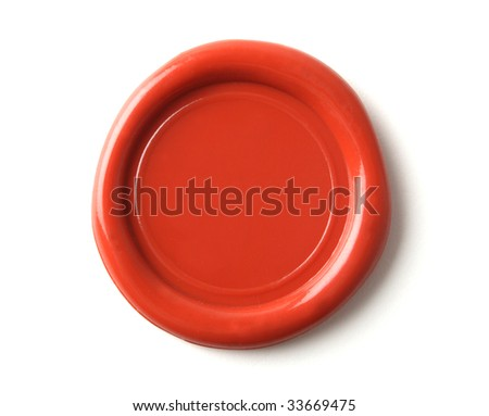 wax seal isolated on white - stock photo