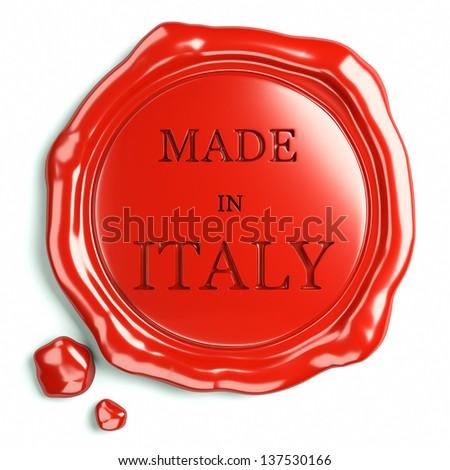 wax seal of italy  - stock photo