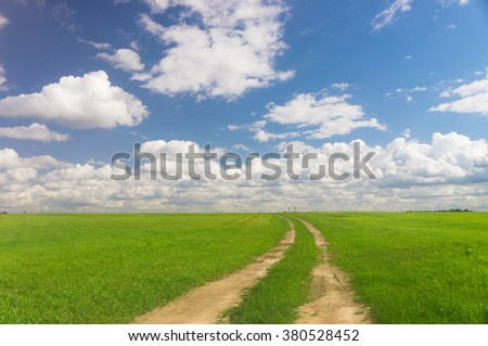 Way Ahead On a Country Lane  - stock photo