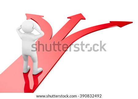 Way choice. Isolated 3D image - stock photo