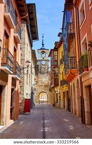 Way of Saint James by Ponferrada El Bierzo of Leon - stock photo
