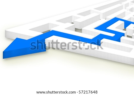 Way Out - stock photo