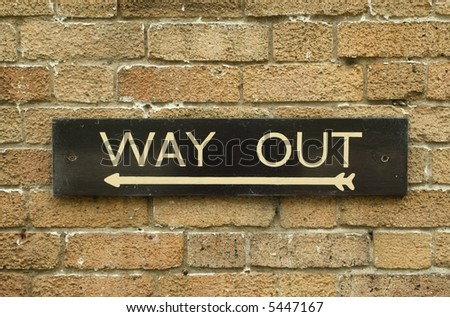way out sign - stock photo