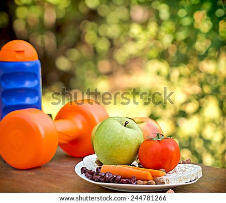 Way to healthy living - stock photo