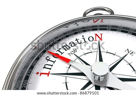 way to information indicated by compass conceptual image