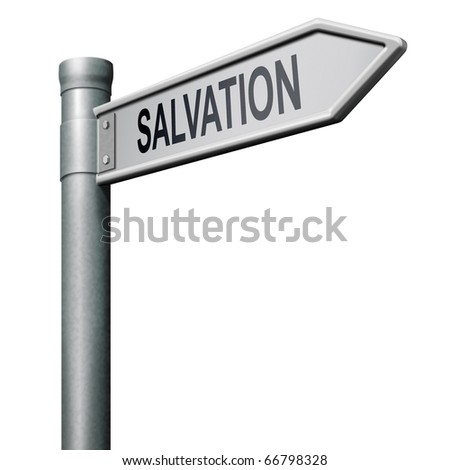 way to salvation follow jesus and god to be rescued save your soul icon button