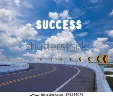 Way to success - stock photo
