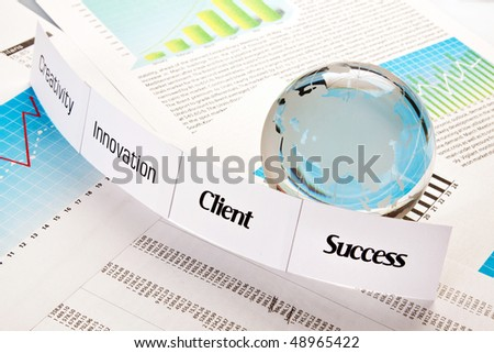 way to success, client and marketing - stock photo
