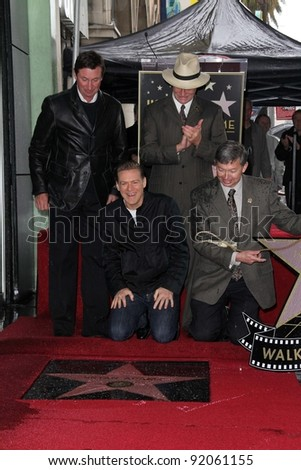 Wayne Gretzky and Bryan Adams at Bryan Adams Star on the Walk of Fame Ceremony, Hollywood , CA. 03-21-11 - stock photo