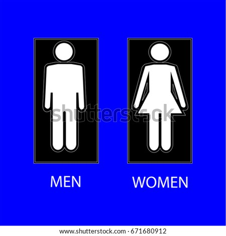 Bathroom Sign Texture wc sign white silhouette men women stock vector 592217378
