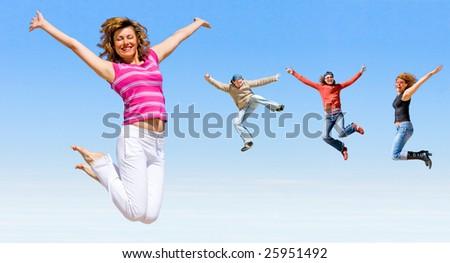 We are happy - stock photo