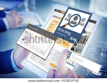 We Are Hiring Career Headhunting Job Occupation Concept - stock photo