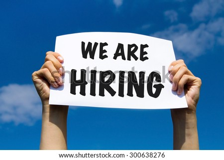 we are hiring - concept - stock photo