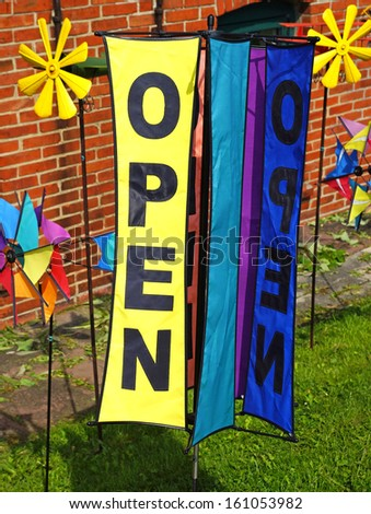 we are open - stock photo