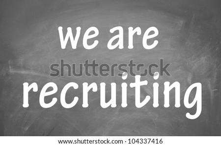 we are recruiting symbol - stock photo