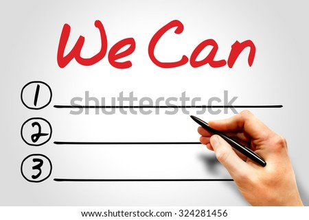 We Can blank list concept - stock photo