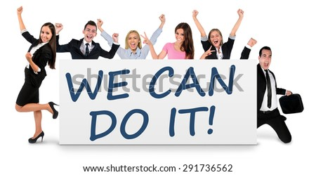 We can do it word writing on banner - stock photo