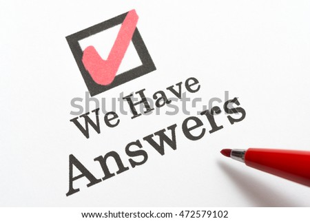 We Have Answers, check box