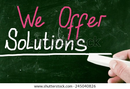 we offer solutions - stock photo