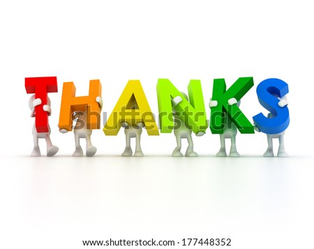 we thank you - stock photo