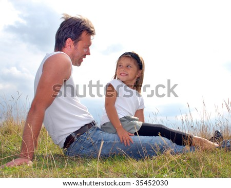 We two on a meadow - stock photo