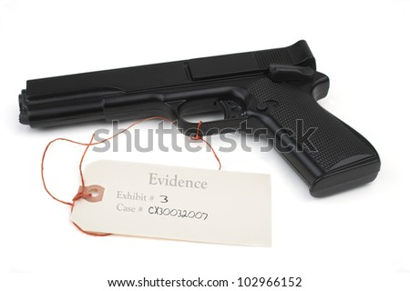 Weapon in evidence - stock photo