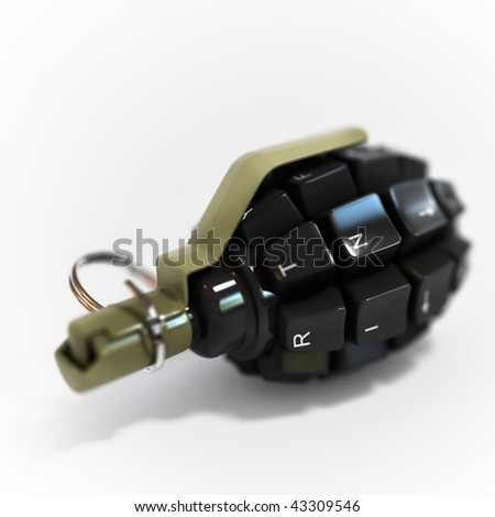 Weapon of the information wars - stock photo