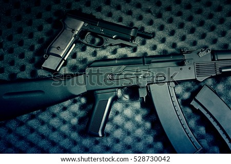 Weapons of war, defense weapons detail, death and destruction