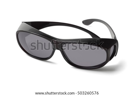 Wear Over Sunglasses for Post Eye Surgery on White Background