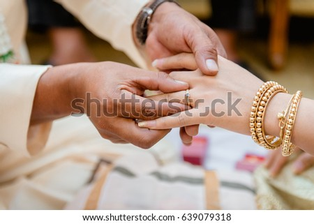 Wearing Wedding Ring Ceremony Stock Photo Edit Now Shutterstock