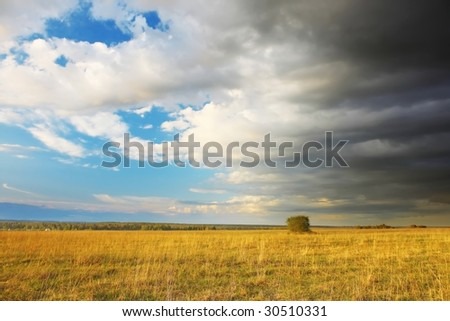 Weather changing - stock photo