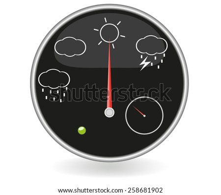 Weather dashboard - stock photo