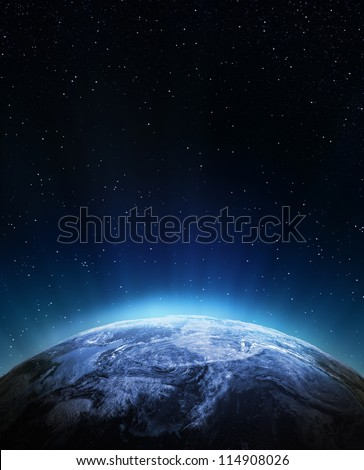 Weather from space. Elements of this image furnished by NASA - stock photo