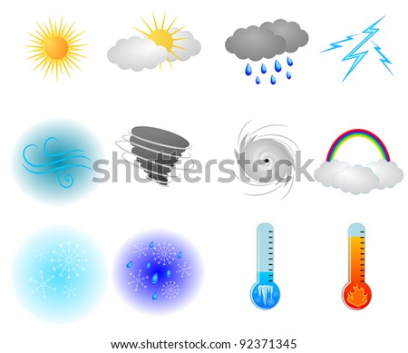 Weather Icons - stock photo