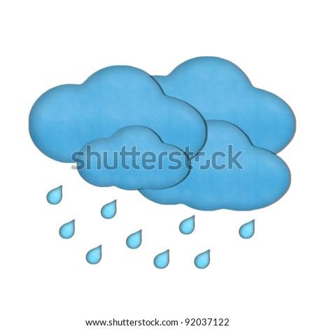 Weather plasticine craft stick on white background - stock photo