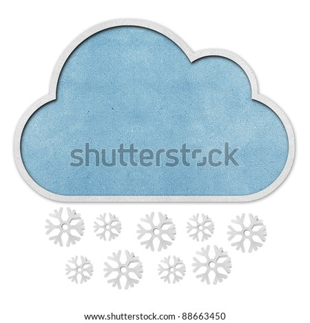 weather recycled papercraft background. - stock photo