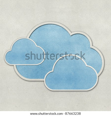 Weather recycled papercraft on grunge paper background - stock photo