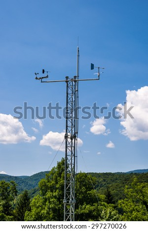 Weather station in Croatia. - stock photo