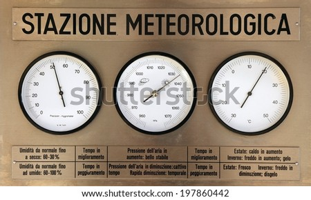 Weather Station Instruments - stock photo