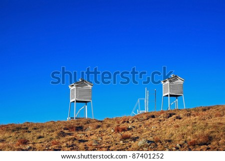 weather towers - stock photo
