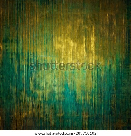 Weathered and distressed grunge background with different color patterns: yellow (beige); brown; blue; green - stock photo