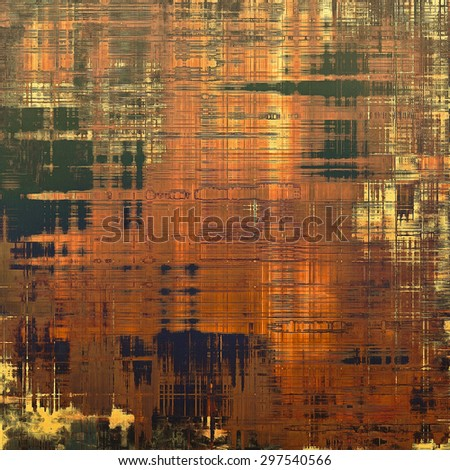 Weathered and distressed grunge background with different color patterns: yellow (beige); brown; green; red (orange) - stock photo