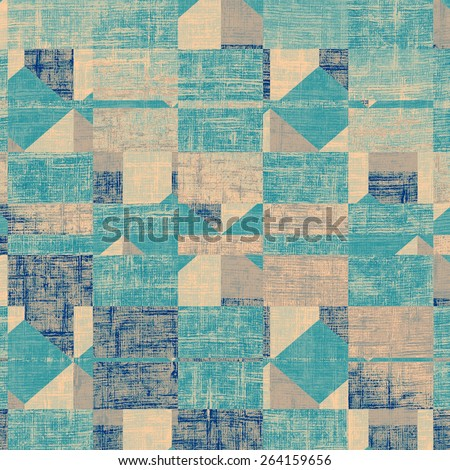 Weathered and distressed grunge background with different color patterns: yellow (beige); gray; cyan; blue - stock photo
