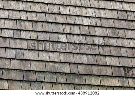 Weathered barn roof. - stock photo