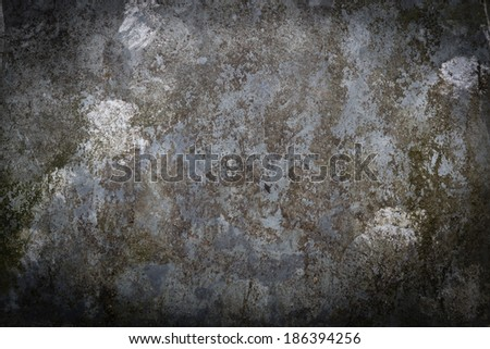weathered metal plate - stock photo
