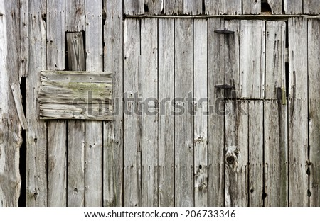 weathered old wood barn background - stock photo