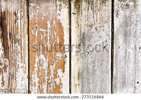 Weathered wood panels as a background texture - stock photo