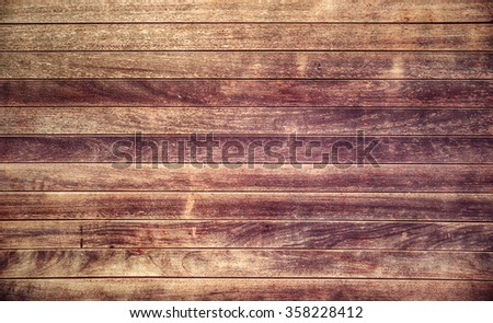 Weathered wood planks wall background with purple stains  - stock photo