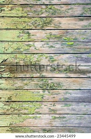weathered wooden background, peeling paint, nailed boarded fence,